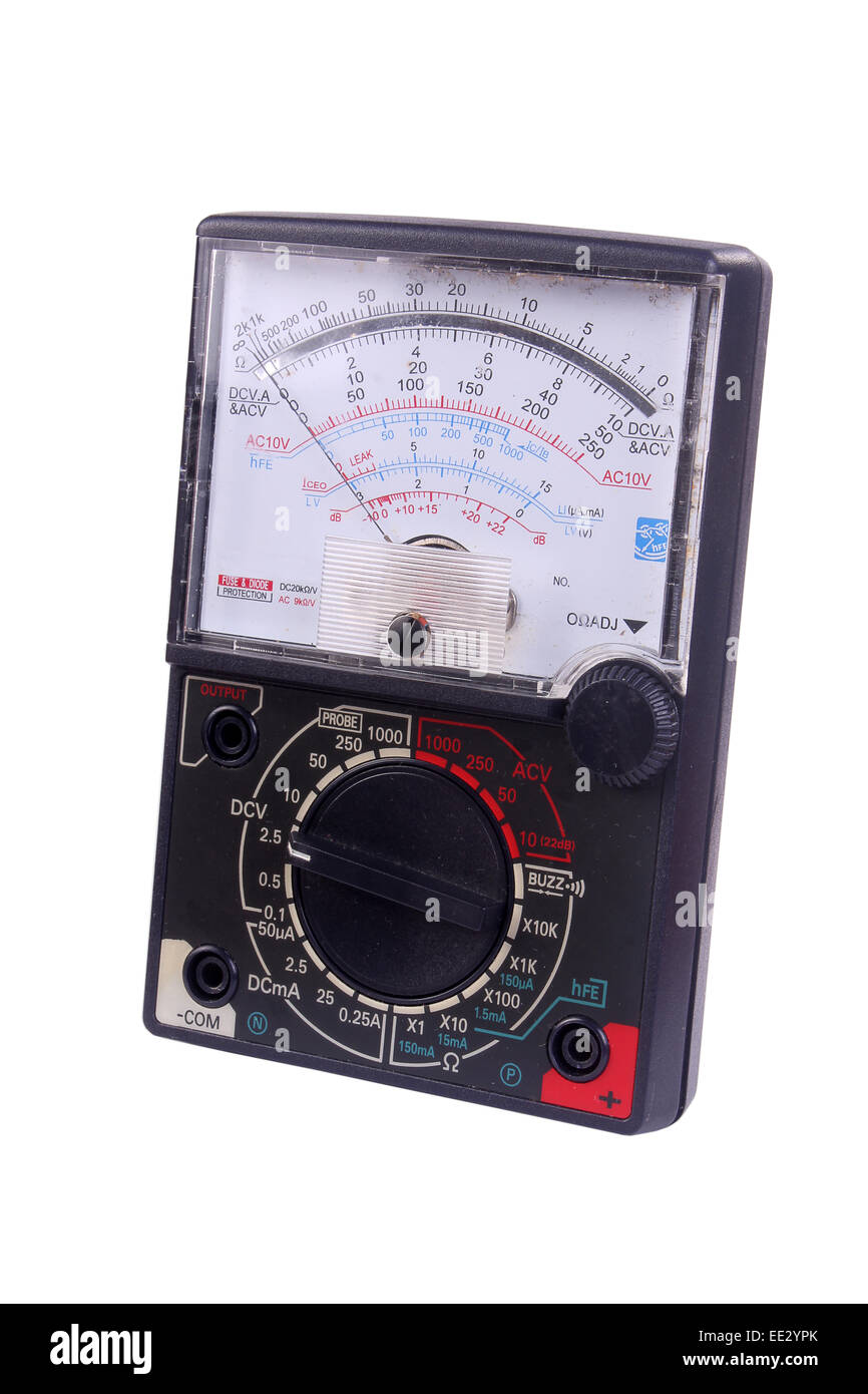 Black Analogue Multimeter - Stock Image