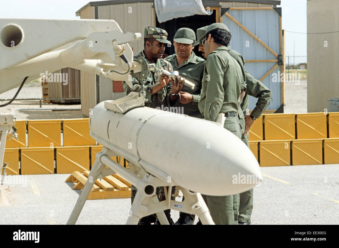 EGYPTIAN ARMY TRAINING ON HAWK MISSILES, FORT BLISS, UNITED STATES ARMY POST IN TEXAS, USA - Stock Image