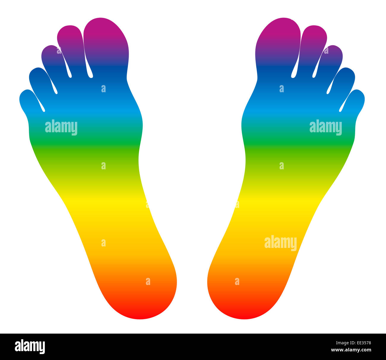 Feet that are rainbow colored as a symbol for health and wellbeing feet that are rainbow colored as a symbol for health and wellbeing biocorpaavc Gallery