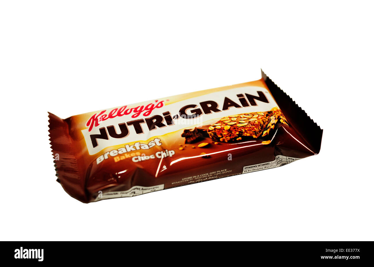 Close-up of Kellogg's Nutri-Grain Breakfast Bakes Choc Chip - Stock Image