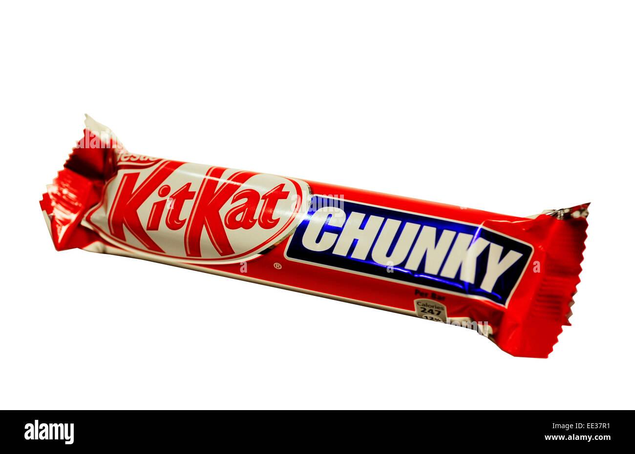 Close-up of a Kit Kat Chunky - Stock Image