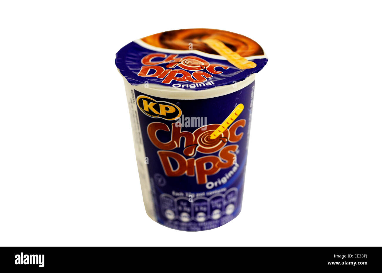 Close-up of a pack of KP Choc Dips Stock Photo