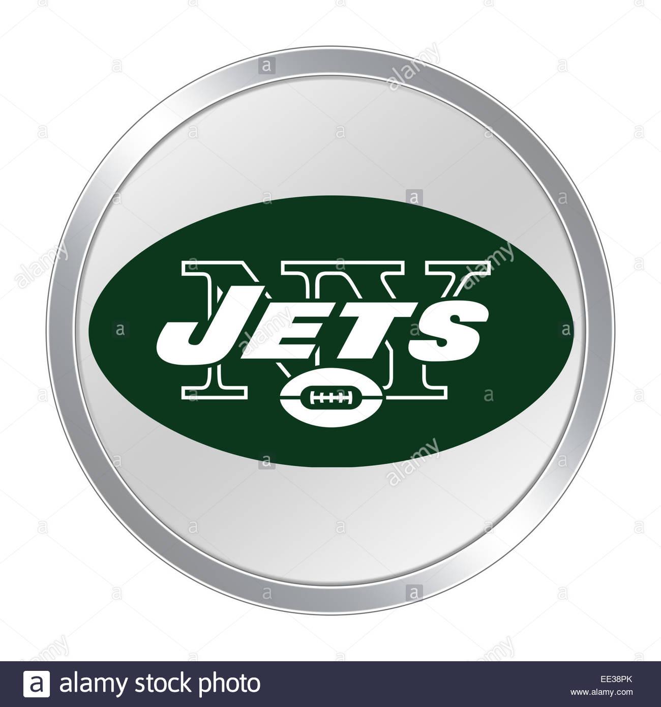 new york jets logo icon button stock photo 77519419 alamy