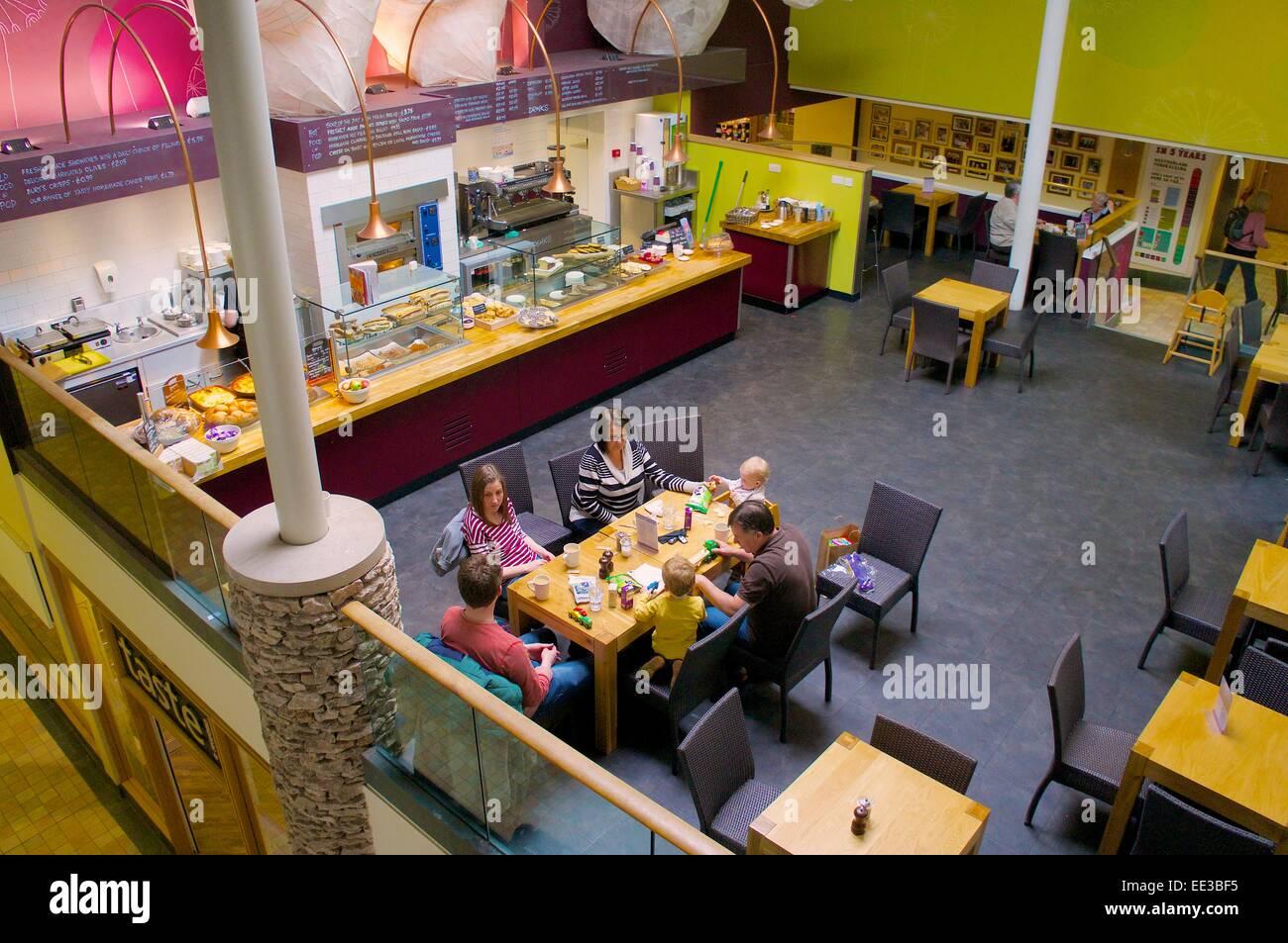 Rheged Cafe Pod, Rheged lakeland heritage centre, Penrith, Eden Valley, Cumbria, England, UK. - Stock Image