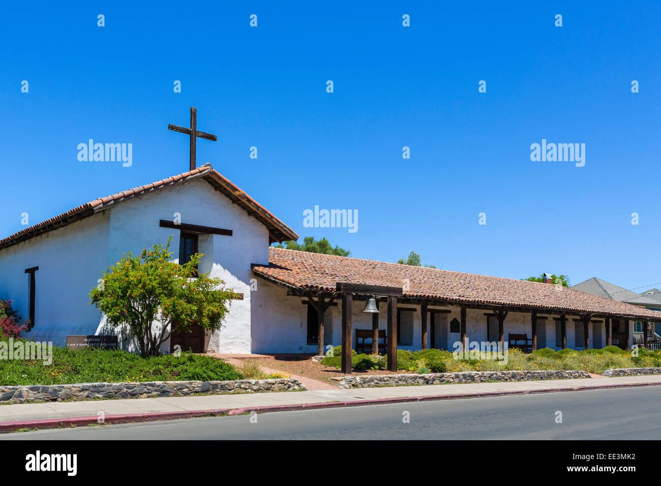 Mission San Francisco Solano, Sonoma State Historic Park, Sonoma, Wine Country, California, USA - Stock Image