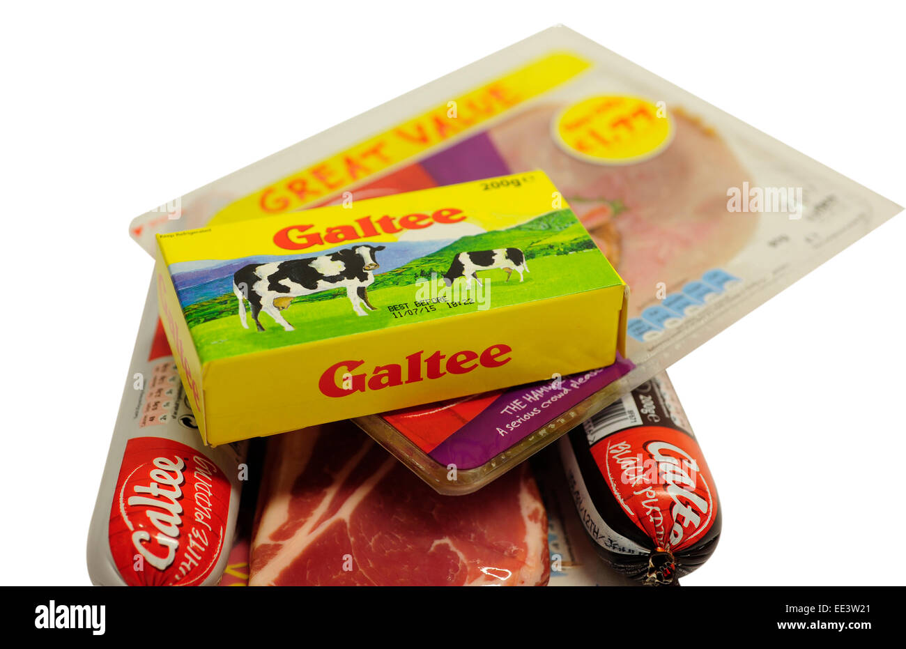 Close up of Galtee Products - Stock Image