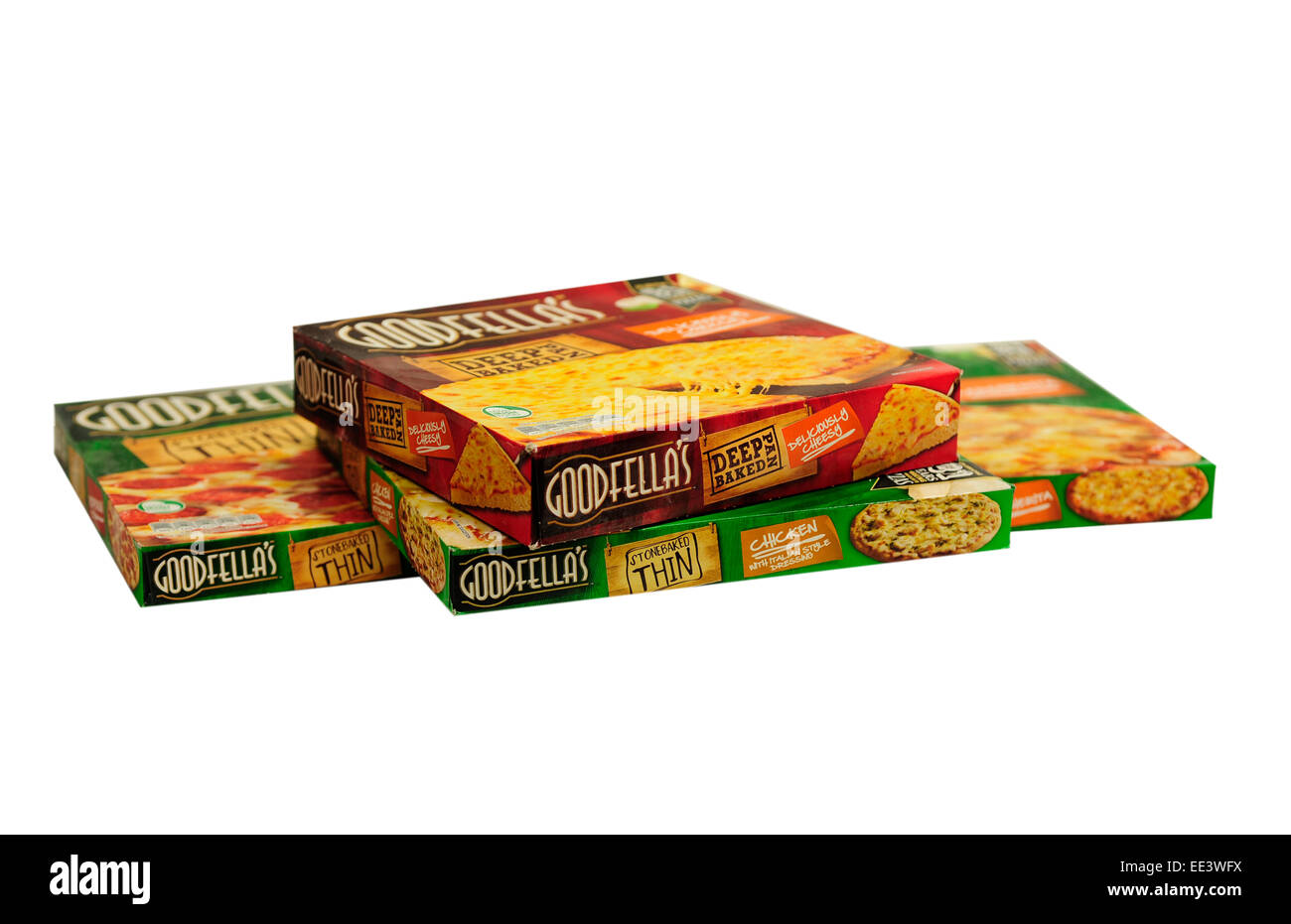 Close up of  Goodfellas Pizzas - Stock Image