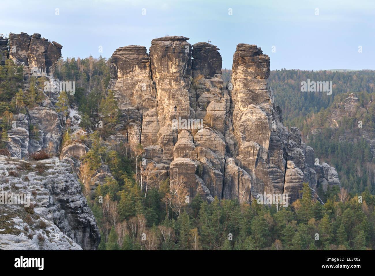 Elbsandsteingebirge, Germany, Elbe Sandstone Mountains - Stock Image