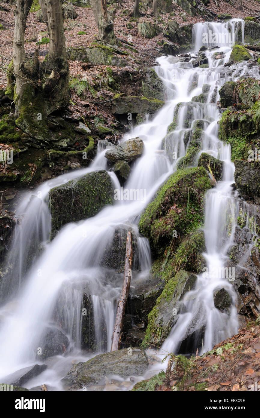 wasserfall beautiful waterfall germany - Stock Image