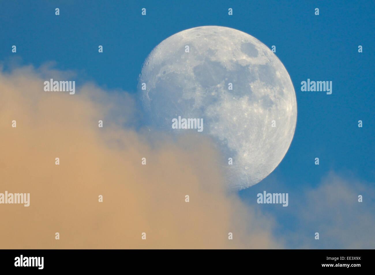 Beautiful Moon at daylight - Stock Image