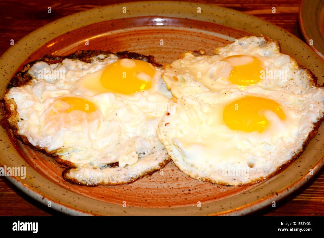 Sunny side up, Fried Egg - Stock Image