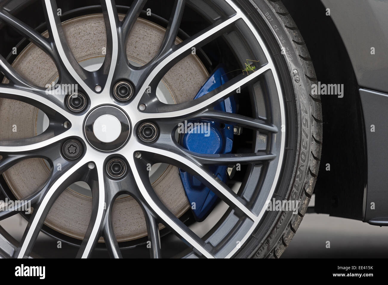 Close Up Of Rims From A Sport Car Stock Photo 77535407 Alamy