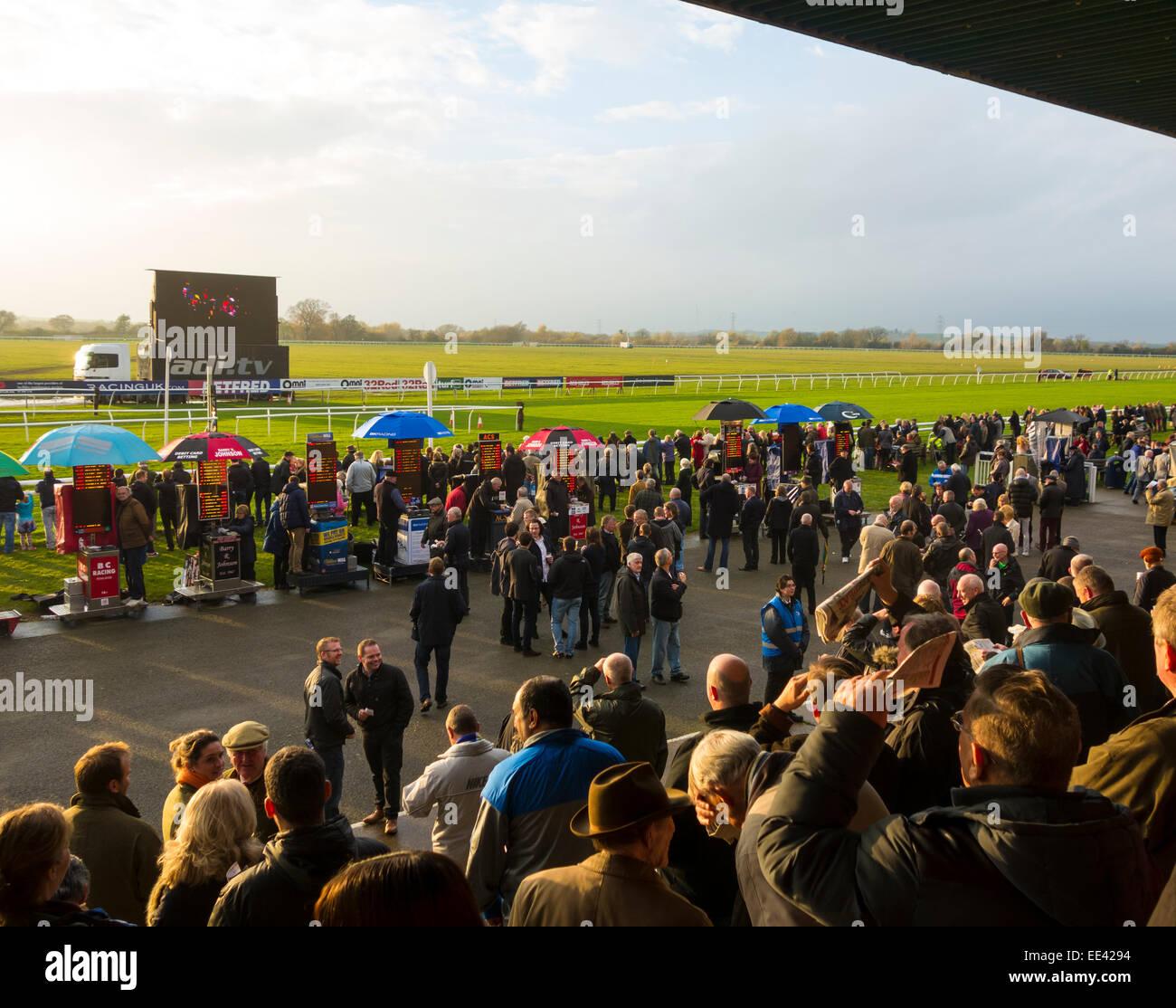 Huntington race track. - Stock Image