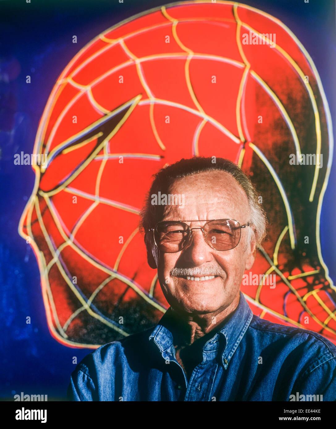 LOS ANGELES, CA - JUNE 6: Comic book illustrator and creator Stan Lee in Los Angeles, California on June 6, 1996. - Stock Image