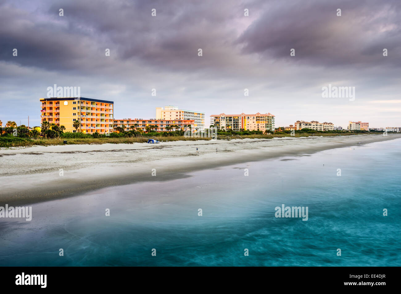 Cocoa Beach, Florida beachfront hotels and resorts. - Stock Image