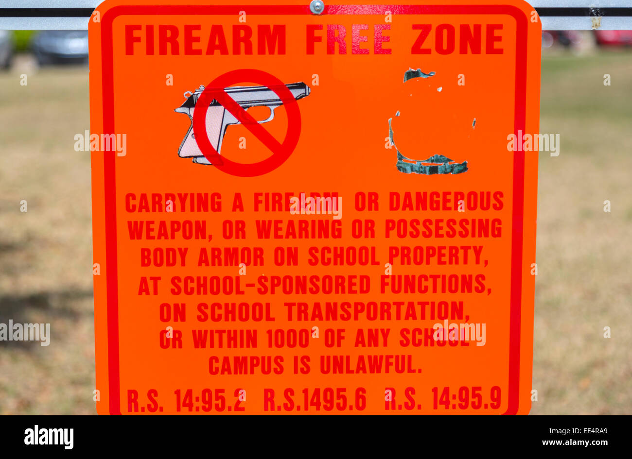 New Orleans, Louisiana.  Notice that Loyola University Campus is a Firearm-free Zone.  Uptown District. Stock Photo