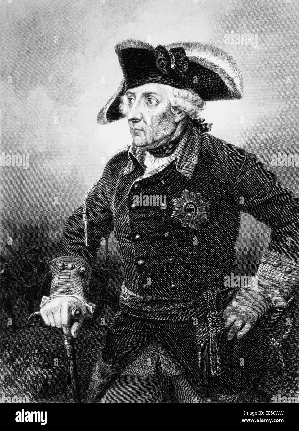 Frederick II, Frederick the Great (1712-86), King of Prussia (1740-86), Portrait - Stock Image