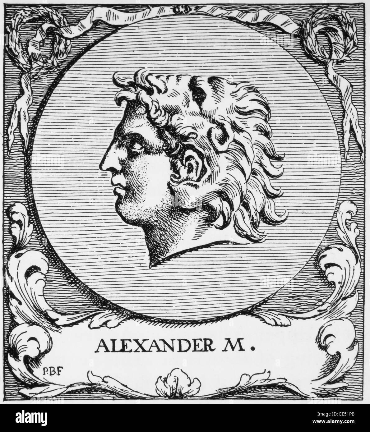 Alexander III of Macedon or Alexander the Great (356-323), King of Macedonia - Stock Image