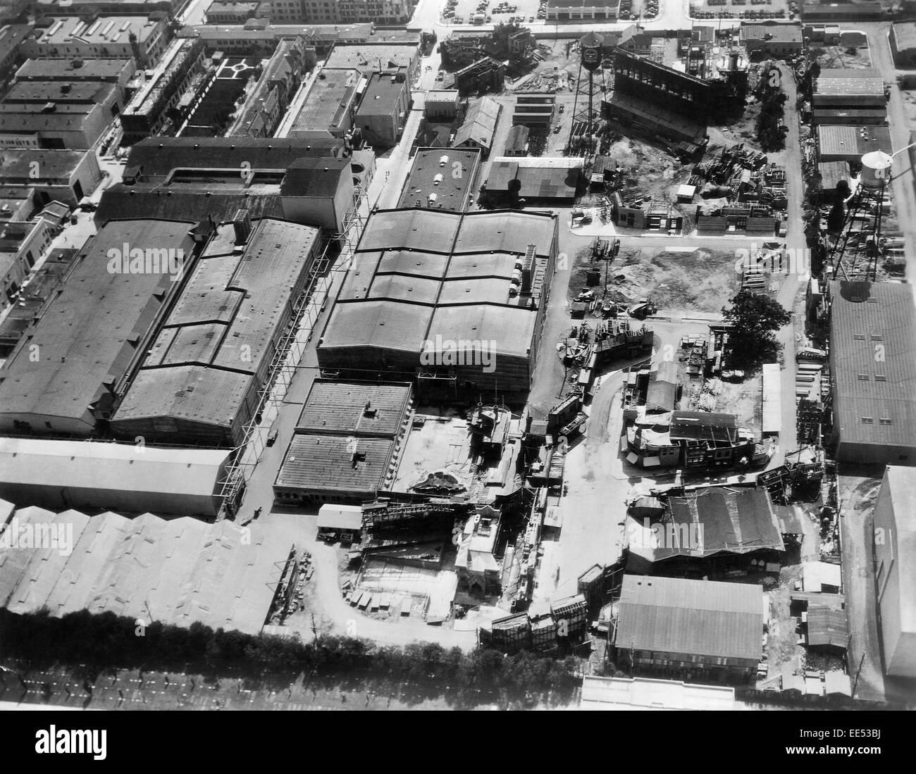 Paramount Studios, High Angle View, Los Angeles, California, USA, 1933 - Stock Image