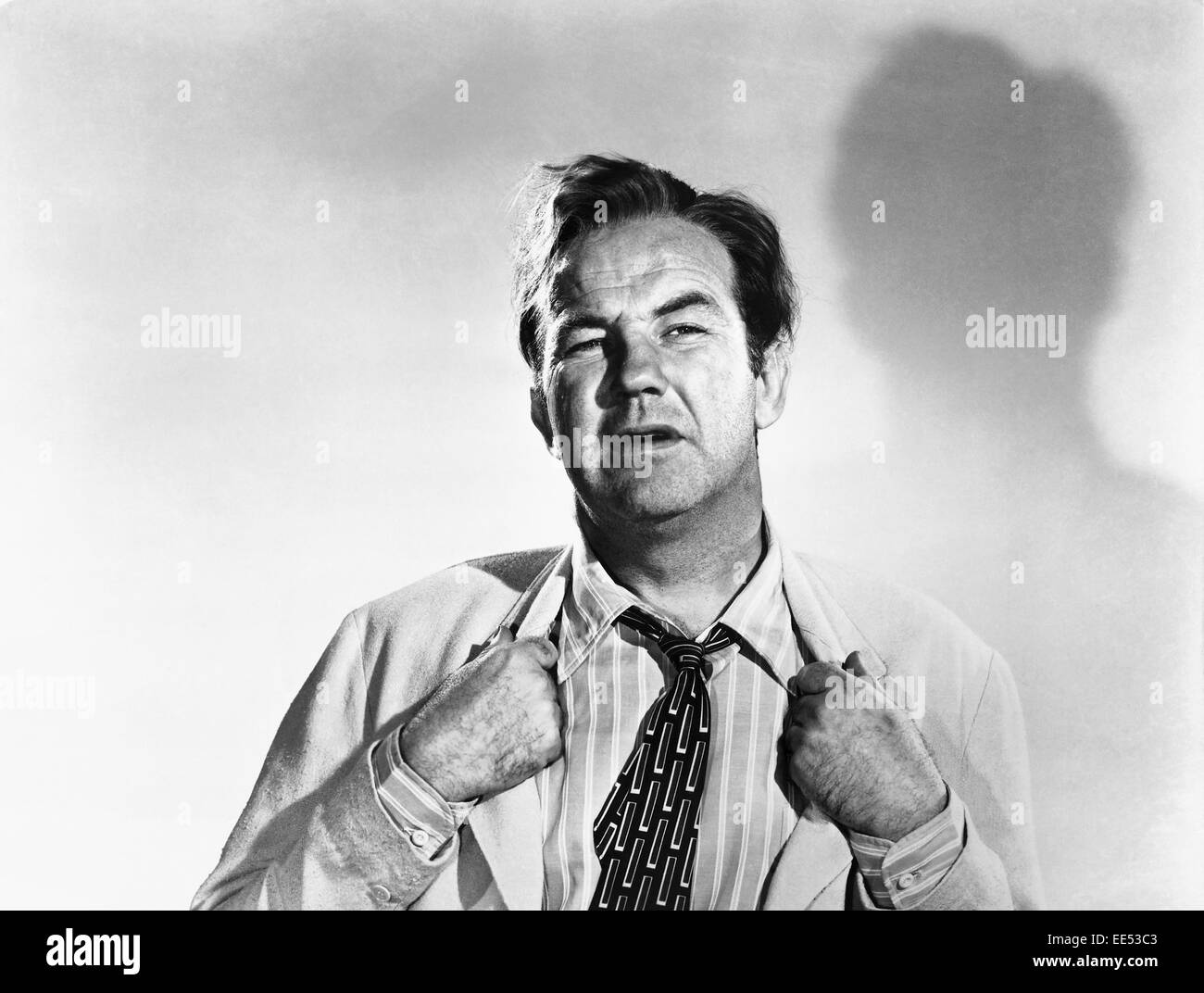 Broderick Crawford, Promotional Portrait, on-set of the Film, 'All the King's Men', 1949 - Stock Image