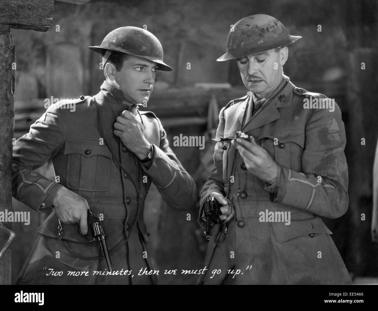 David Manners, Ian Maclaren, on-set of the Film, 'Journey's End', 1930 - Stock Image
