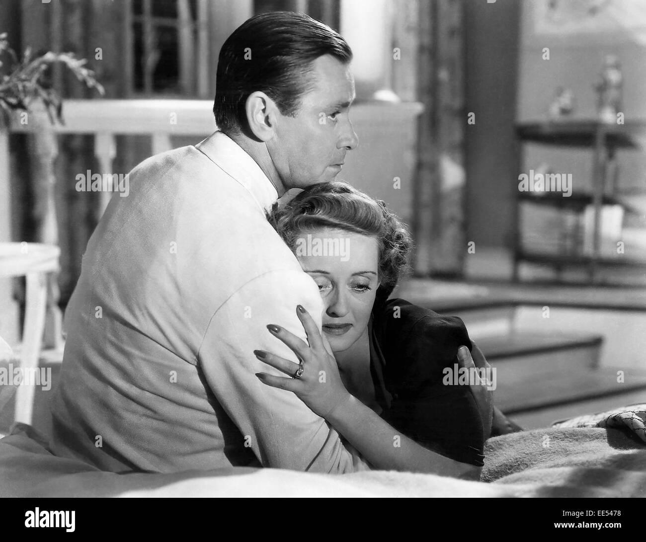 Herbert Marshall, Bette Davis, on-set of the Film, 'The Letter', 1940 - Stock Image