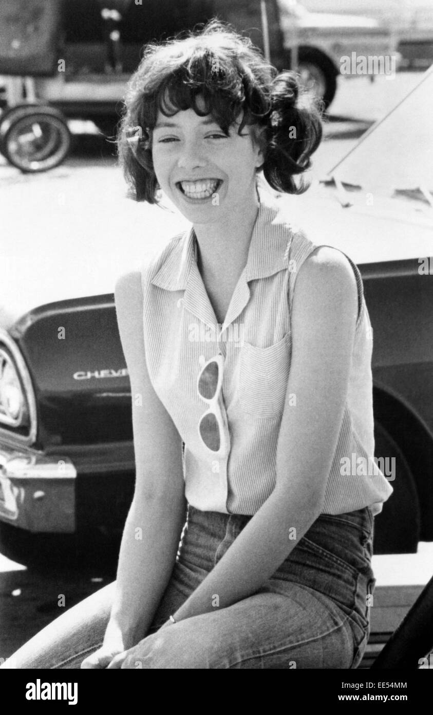 Mackenzie Phillips, on-set of the Film, 'More American Graffiti', Universal Pictures, 1979 - Stock Image