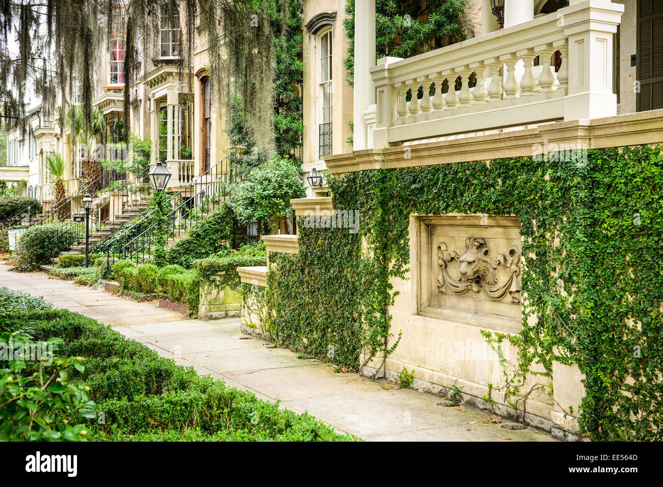 Street scene in Savannah, Georgia, USA. - Stock Image