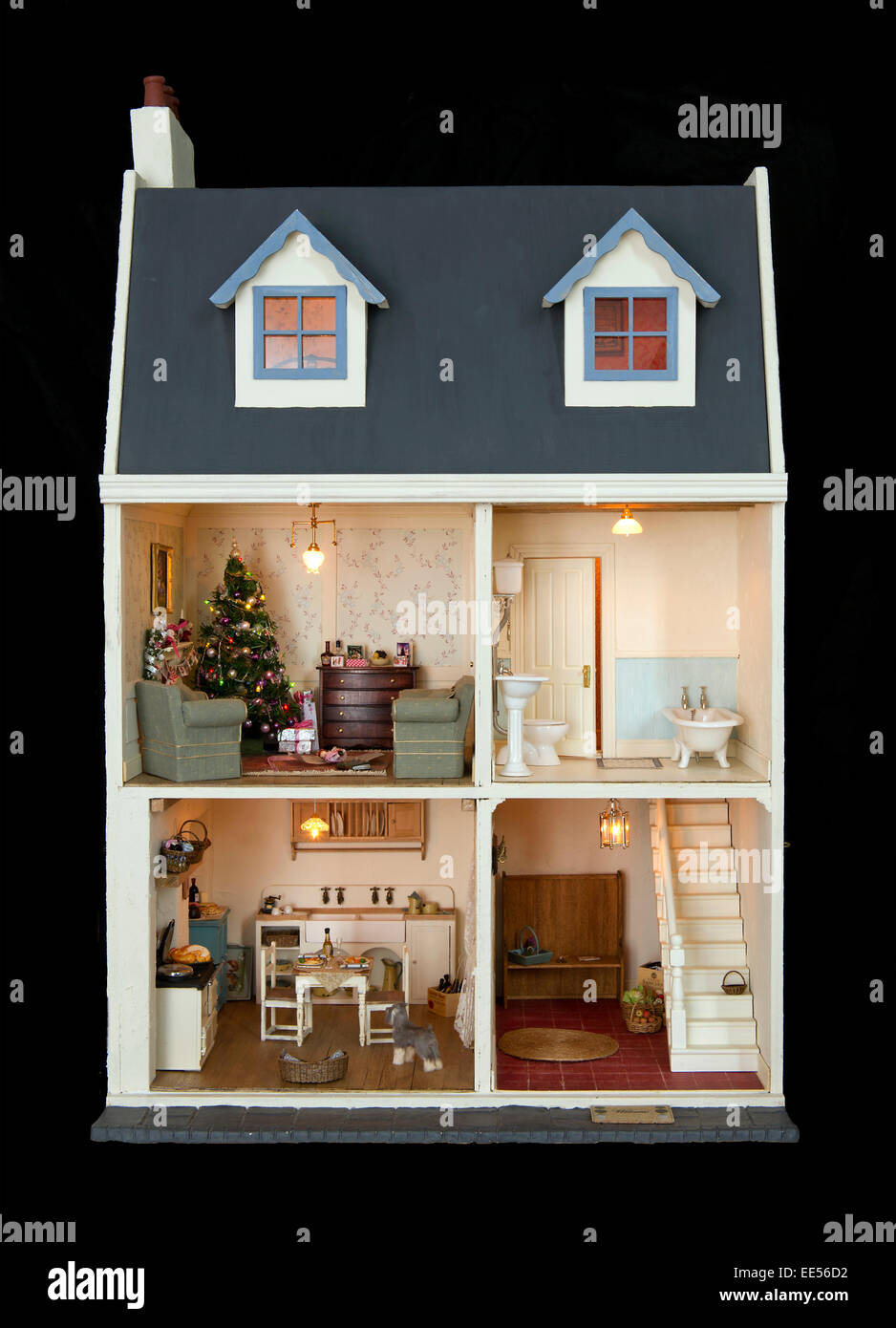 A French Period Dolls House With 3 Rooms Stock Photo 77561486 Alamy