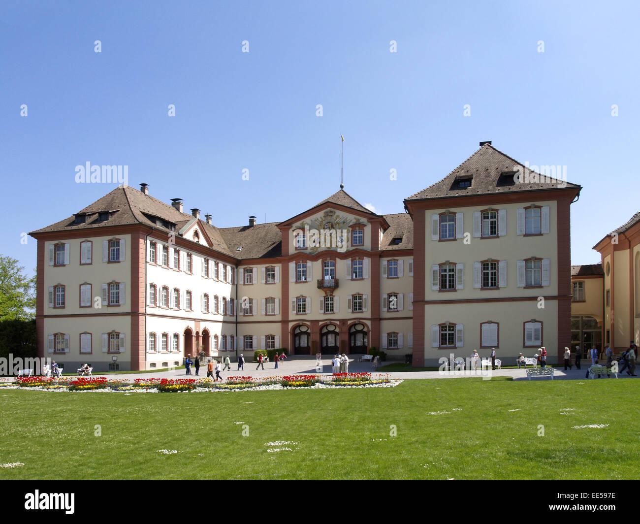 Deutschland, Bodensee, Europa, Sehenswuerdigkeit, Tourismus, Baden-Wuerttemberg, Insel Mainau, Schloss, Blumeninsel, - Stock Image