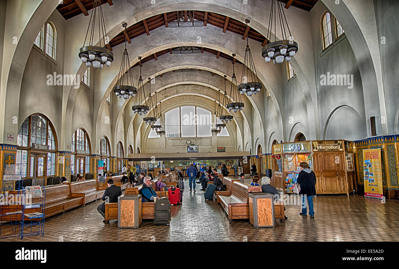 Santa Fe Train Depot San Diego California Usa Stock Photo Alamy