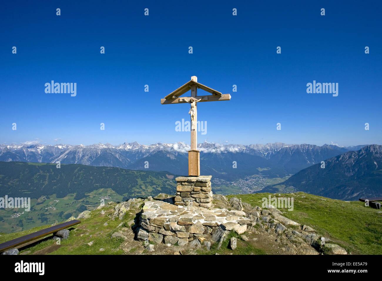 Bildausschnitt, Christus, Detail, Details, Gipfel, Gipfelkreuz, Gipfelkreuze, Glaube, Holz, Jesus, Kreuz, Kreuze, - Stock Image