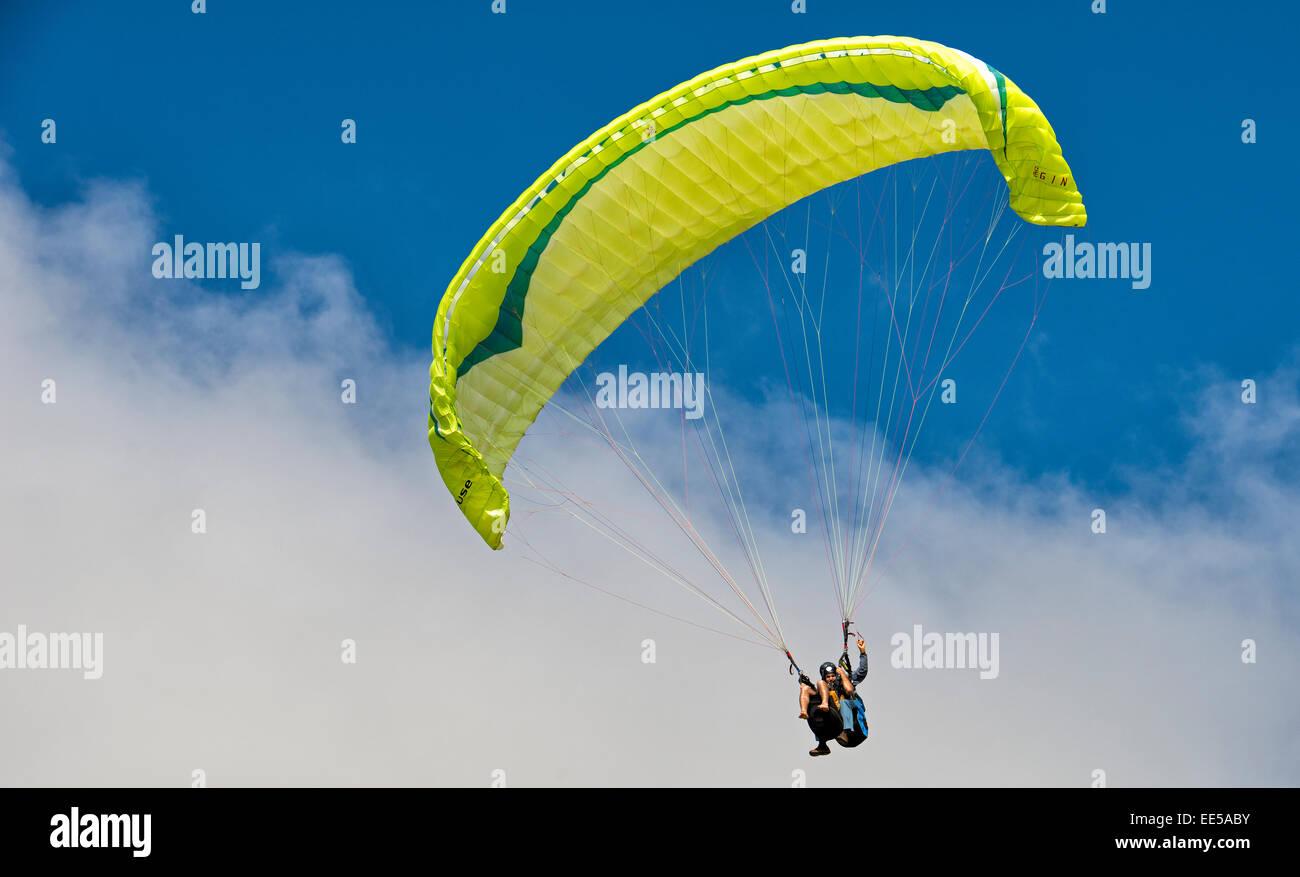 Tandem Paragliding Stock Photos & Tandem Paragliding Stock