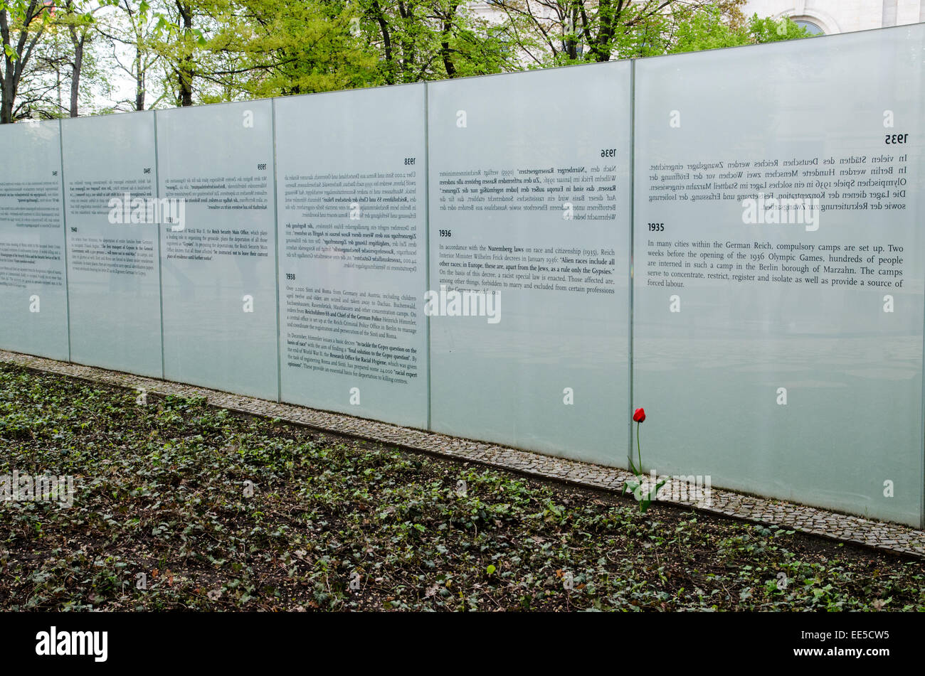 Memorial to the Sinti and Roma murdered by the Nazis, Tiergarten Park, Berlin, Germany - Stock Image