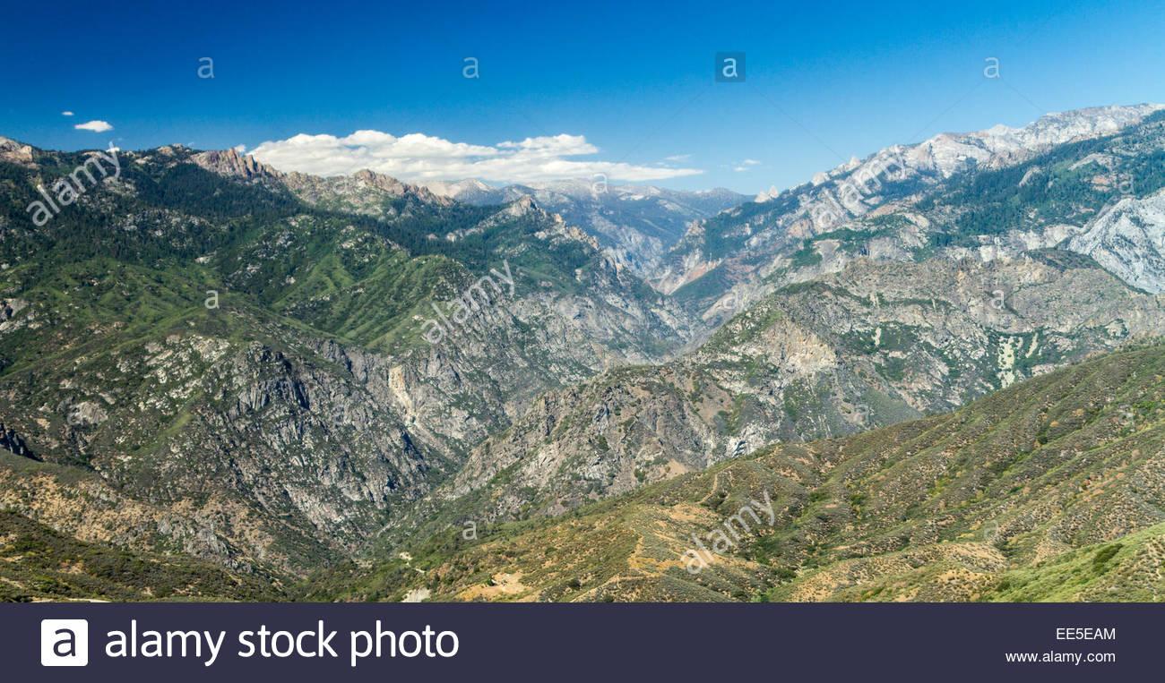 View of Kings Canyon National Park - USA - California Stock Photo