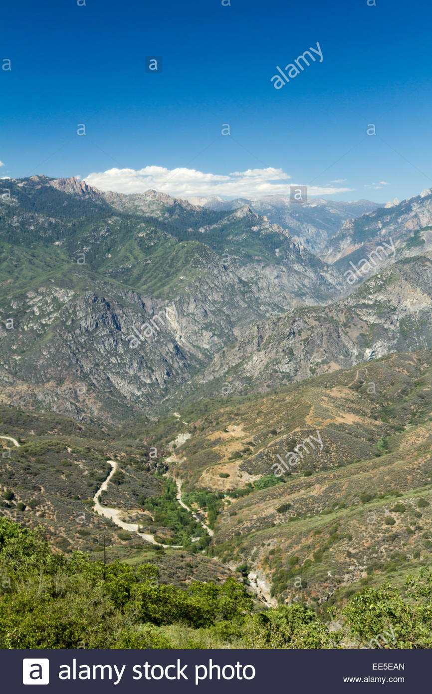 USA, California, View of Sequoia and Kings Canyon National Parks Stock Photo