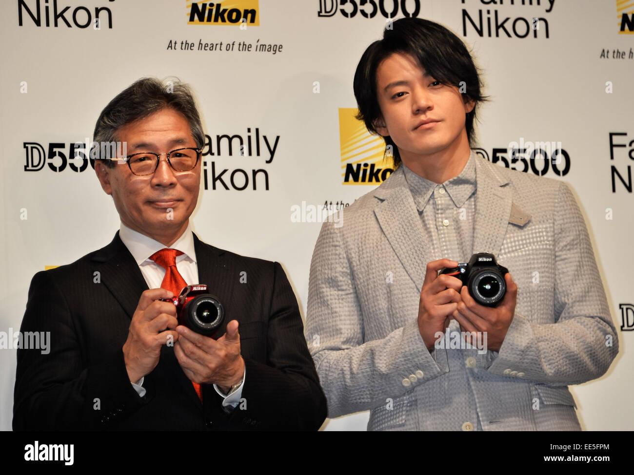 Shun Oguri, Jan 14, 2015 : Tokyo, Japan : President of Nikon