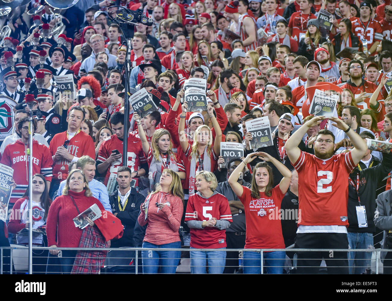 Ohio State Fans Cheer After The College Football Playoff National