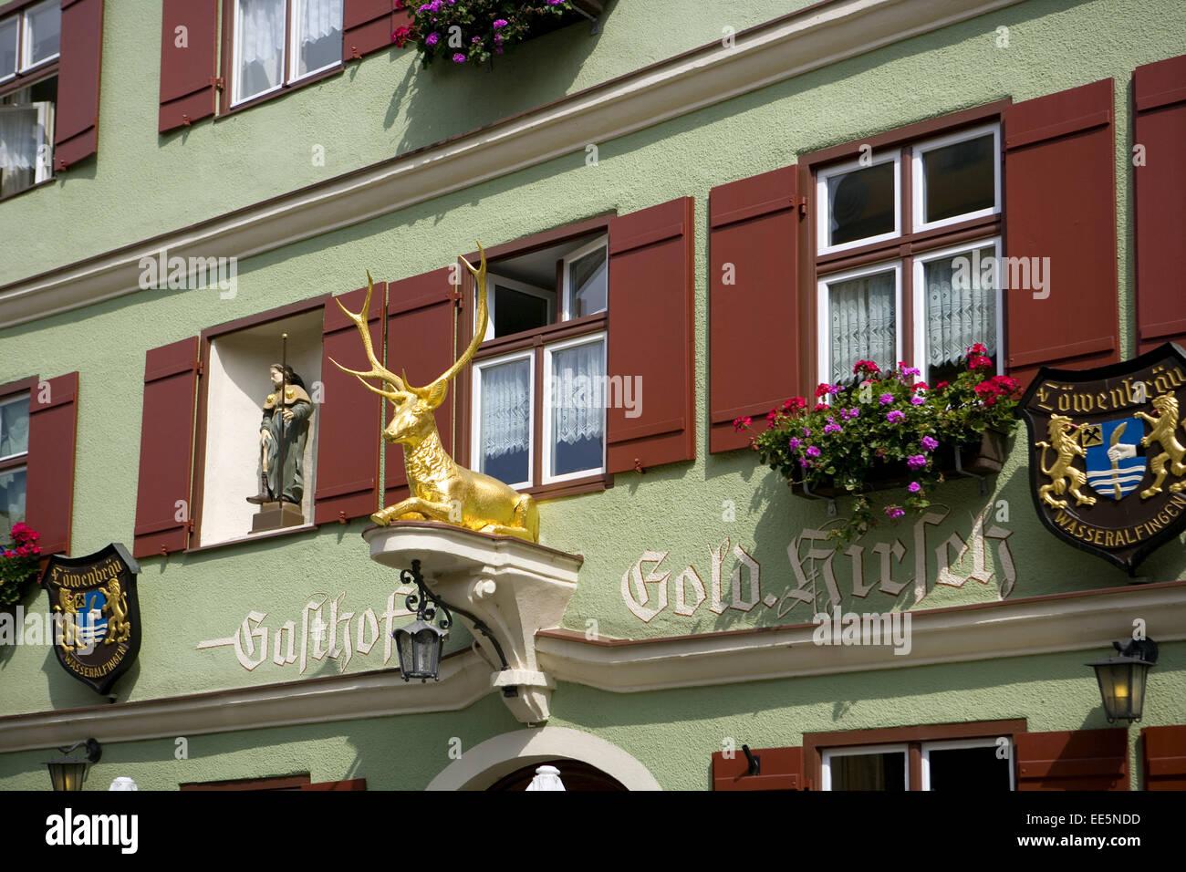 Deutschland, Bayern, Franken, Dinkelsbuehl, Europa, Sueddeutschland, Mittelfranken, Stadt, Innenstadt, Sehenswuerdigkeit, - Stock Image
