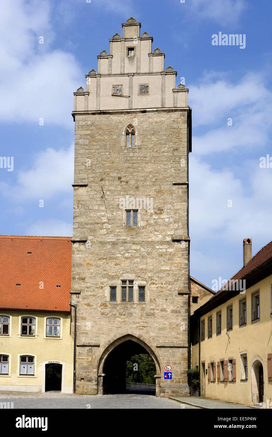 Deutschland, Bayern, Franken, Dinkelsbuehl, Europa, Sueddeutschland, Mittelfranken, Stadt, Innenstadt, Sehenswuerdigkeit, Stock Photo