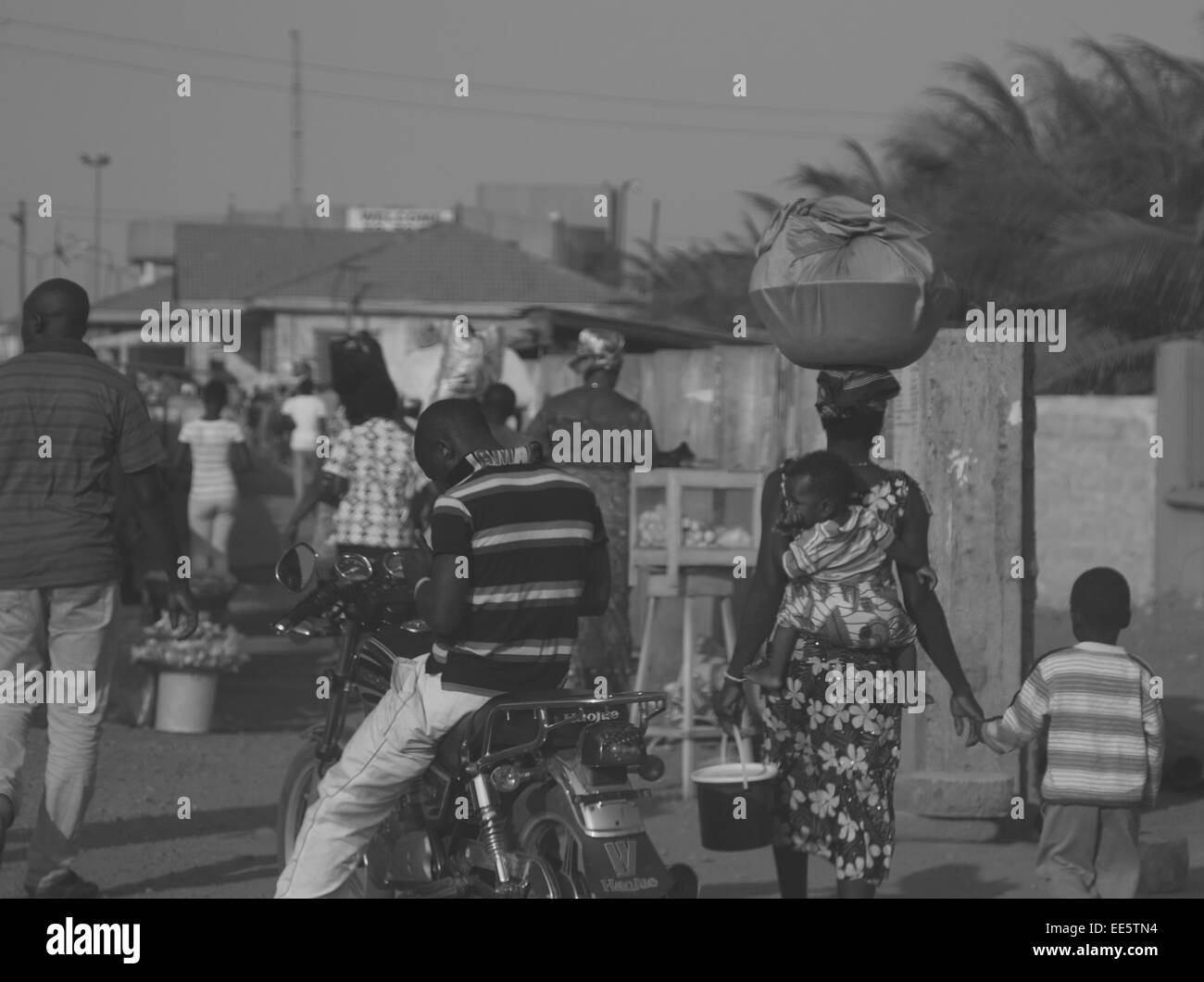 Near the Togo border, Ghana - Stock Image