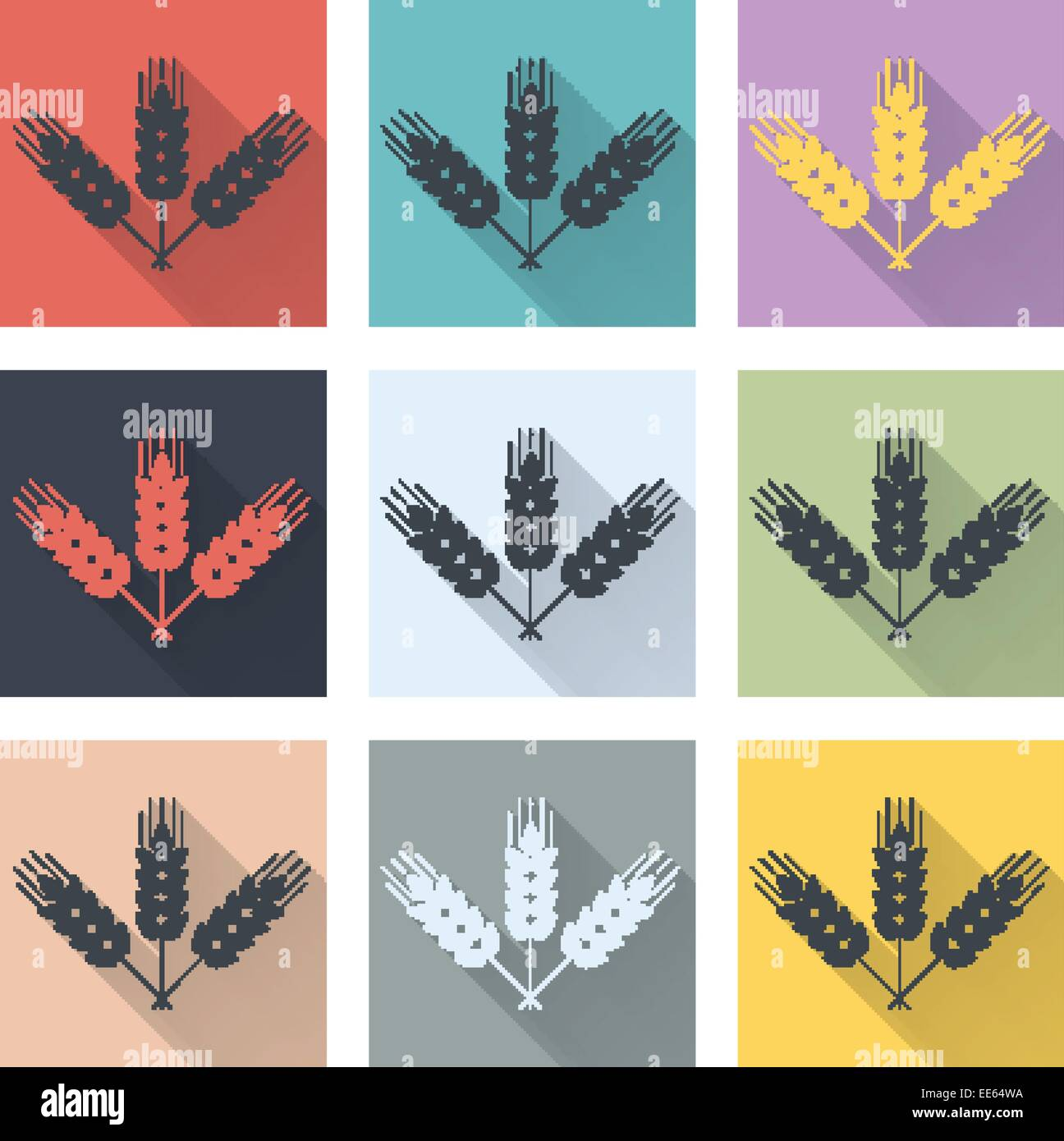 Set of retro icons. - Stock Vector