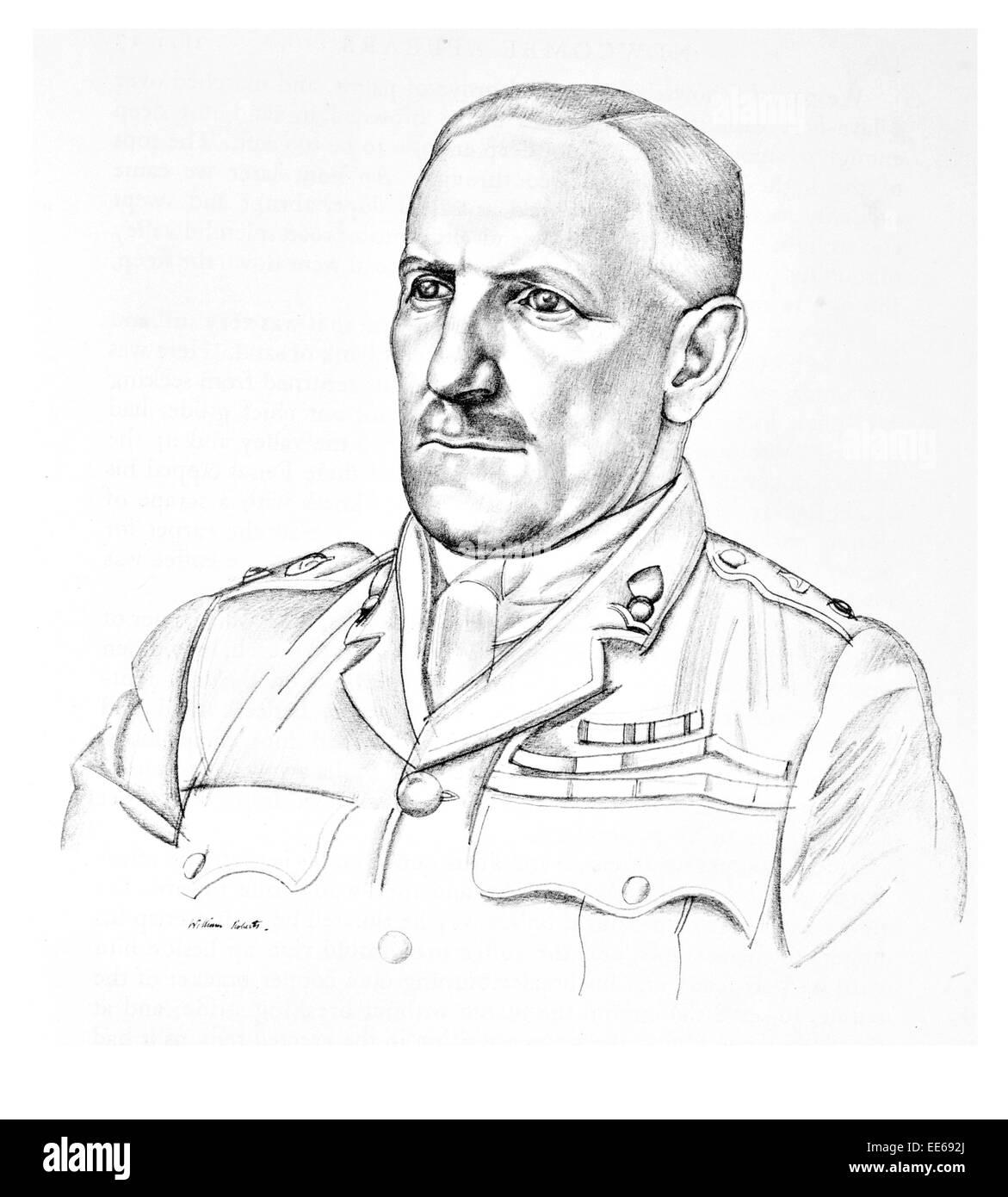 Lt Col Stewart Francis Newcombe  1878 1956 British army officer Royal Engineer Arab Revolt Thomas Edward Lawrence - Stock Image