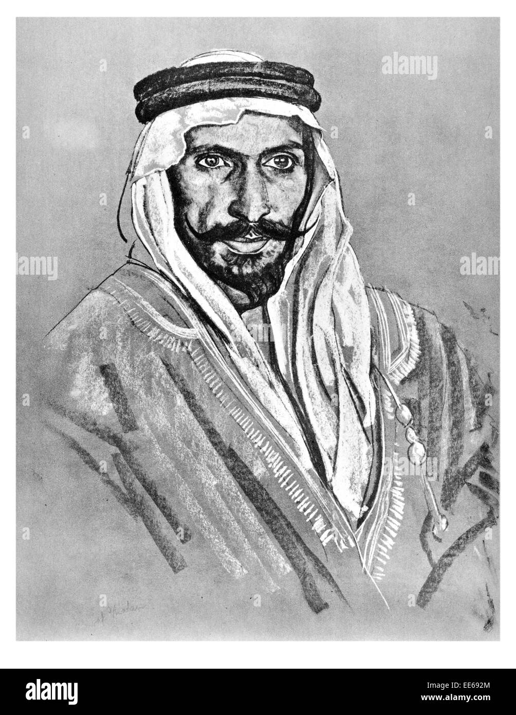 Nawaf Shaalan guide to Thomas Edward Lawrence of Arabia 16 August 1888 19 May 1935 archaeologist British Army officer - Stock Image