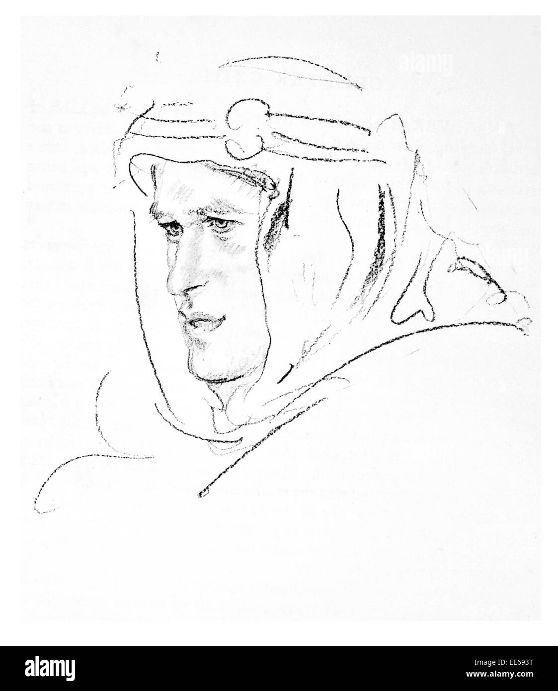 Thomas Edward Lawrence of Arabia 16 August 1888 19 May 1935 British Army officer Sinai Palestine Campaign Arab Revolt - Stock Image
