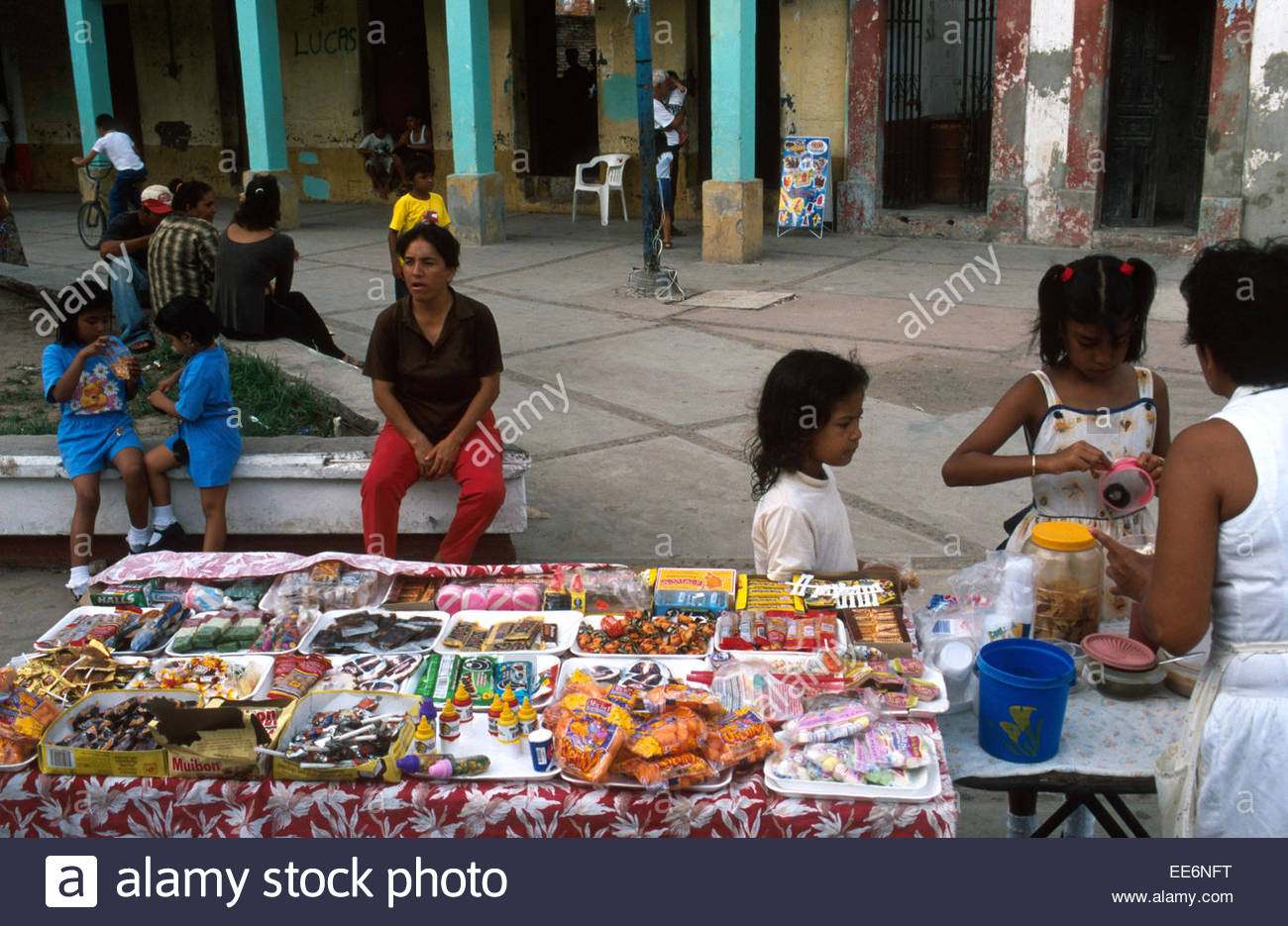 Mexcaltitan, A stall on the village square - Stock Image