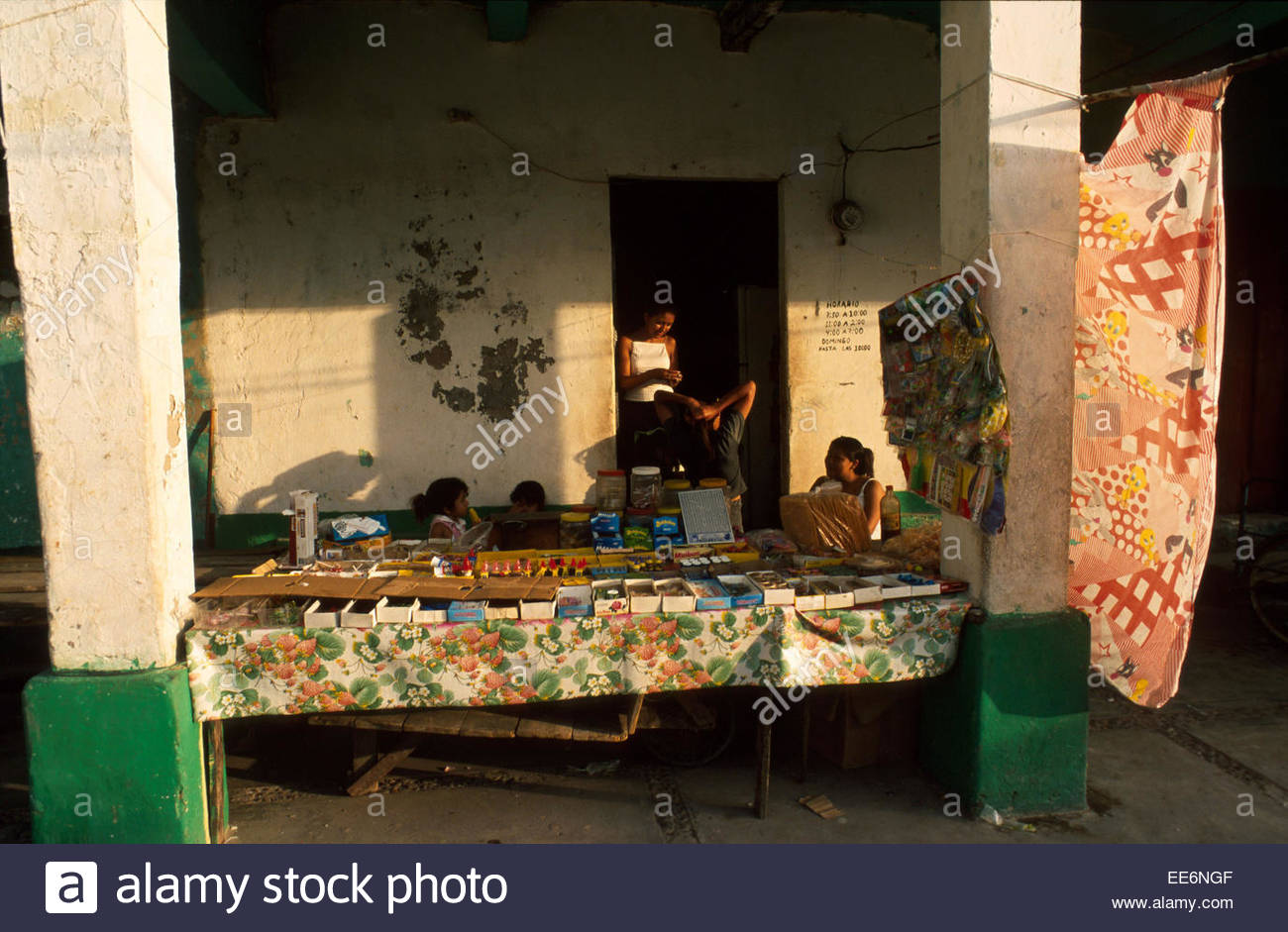 Mexcaltitan, A stall on the village square Stock Photo