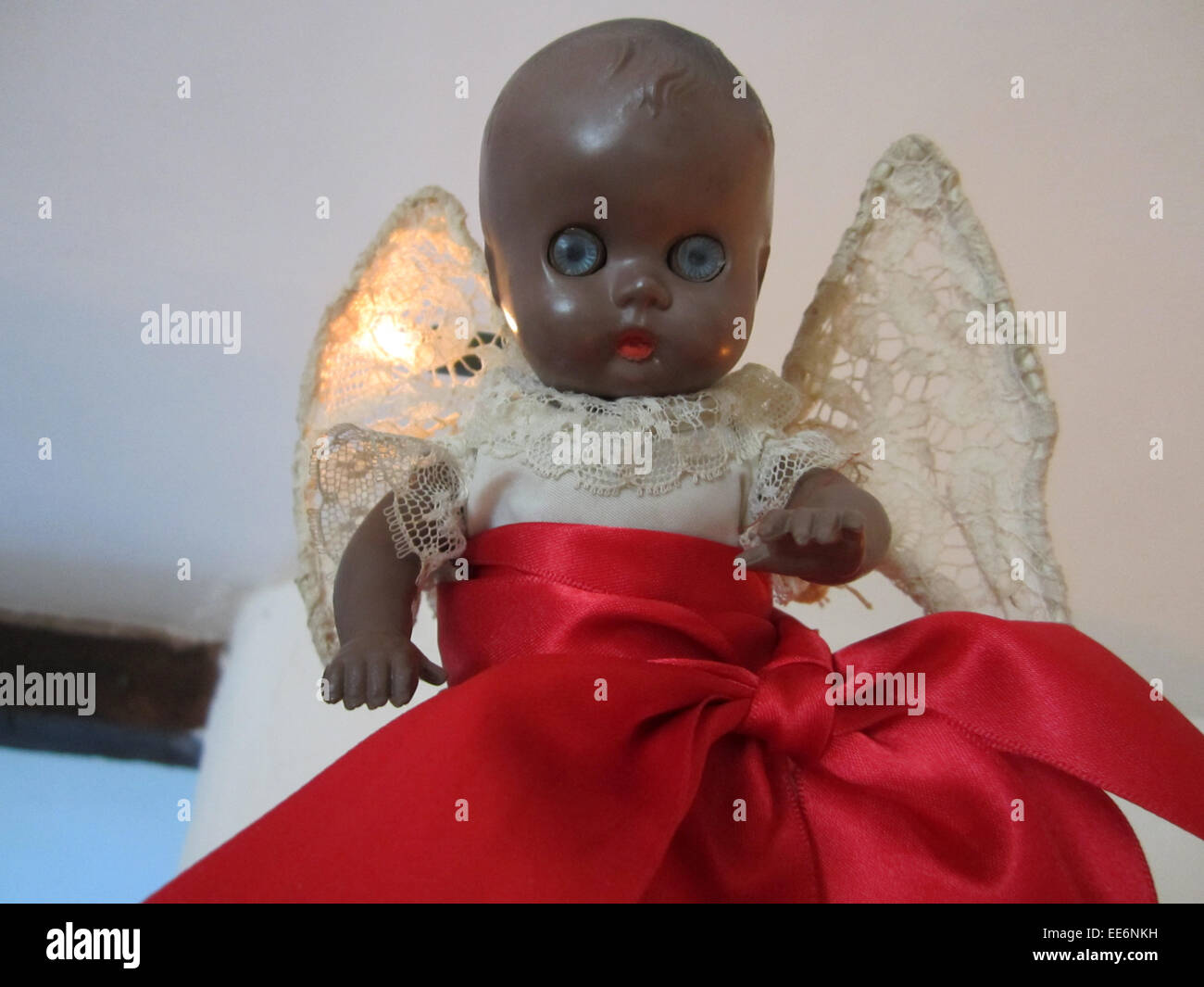black doll christmas fairy - Stock Image