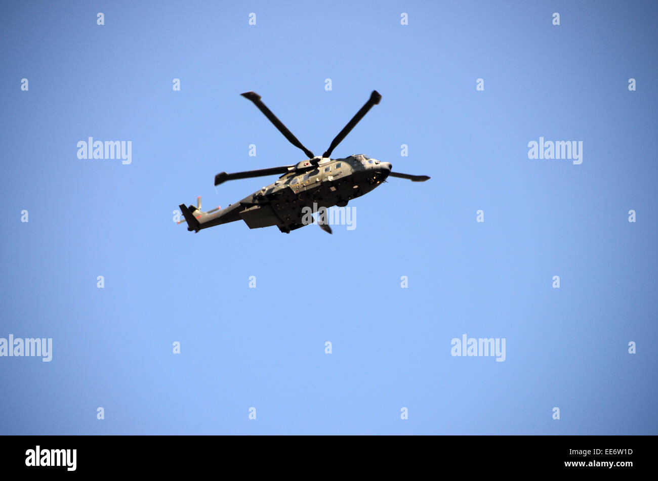 m-17 british army russian made helicopter - Stock Image
