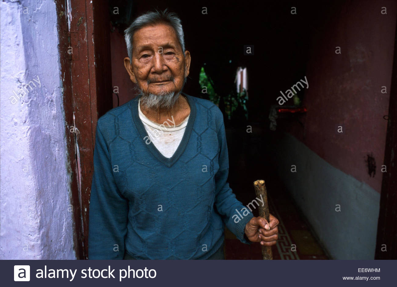 Mexcaltitan, A Chinese immigrant - Stock Image